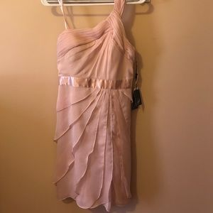 Adriannna Papell draped one shoulder dress